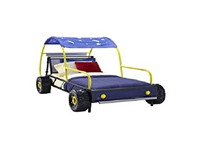 Amazon.com: Powell 904-038 Dune Buggy Car Bed, Twin: Kitchen & Dining