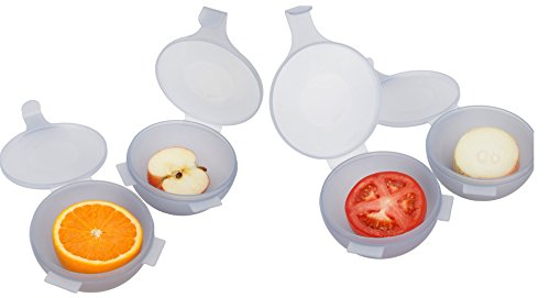 Trenton Gifts Fruit And Vegetable Half Keeper | Keep Produce Fresh | Perfect for Onion, Apple, Tomato, Grapefruit
