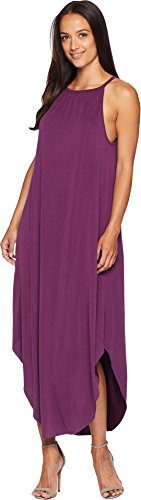 Mckennas Rose (American Rose Women's McKenna High Neck Sandwashed Dress Deep Purple Medium)