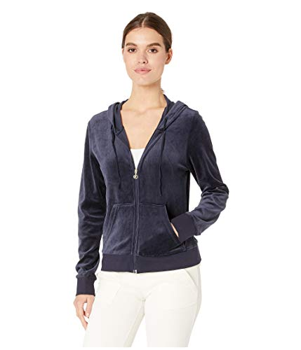 Juicy Couture Black Label Women's Velour Robertson Jacket, Regal, S from Juicy Couture