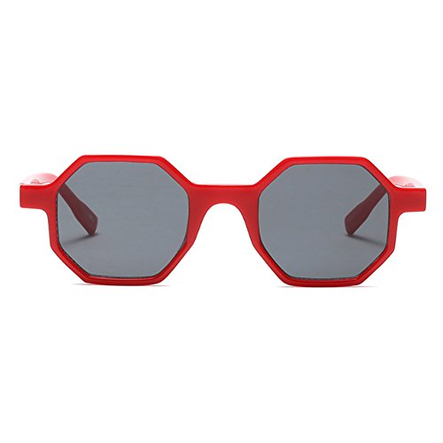 Rojo Todo Polygonal Huicai style Glasses design Womens Mod Sunglasses Frame Fashion Irregular Gris vwCnaSHqC