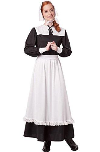 [8eighteen Thanksgiving Colonial Pilgrim Woman Settler Adult Costume] (Baby Pilgrim Costumes)