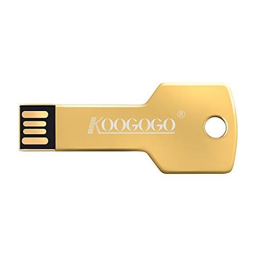 KOOGOGO KEY01 Metal Key USB Flash Drive UDP Floppy Disk Memory (16GB, Gold)