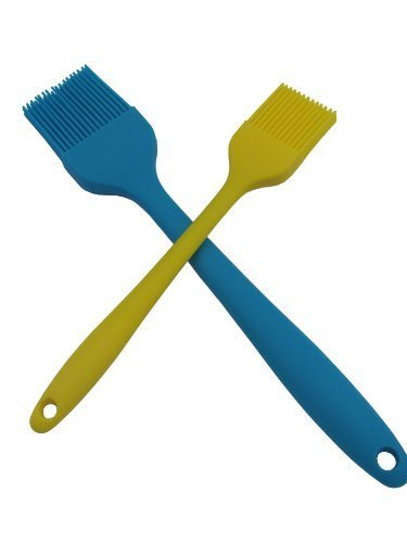 Silicone One Piece Barbecue & Basting Brush Set - 10.5 Inch BBQ Brush & 8 Inch Pastry Brush