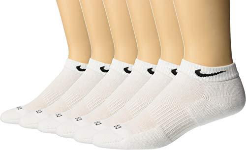 Everyday Training - Men's Nike 6-pack Everyday Plus Cushion Low-Cut Training Socks SIZE 8-12 (LARGE) (WHITE)