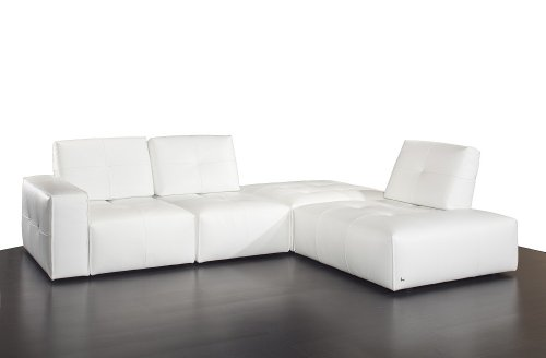 Amazon.com: J&M Furniture Ibiza Full White Italian Leather ...