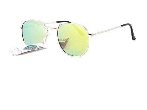015317 2019 Verres mode de 2018 femme Or cityvision Jaune Monture Miroir homme soleil lunettes xqHpwxT