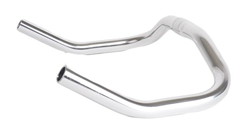 Retrospec Bicycles Pursuit Bull Horn Style Lightweight Alloy Handlebars for Track Bike, Chrome, 25.4mm