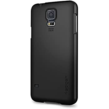 Spigen Ultra Fit Galaxy S5 Case with Premium Finish Coating for Samsung Galaxy S5 2014 - Smooth Black