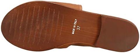 Leonardo Shoes Sandales Ouvertes à la Main pour Femmes en Cuir de Veau Beige - Code modèle: 372B Vitello Cuoio - Taille: 40 EU