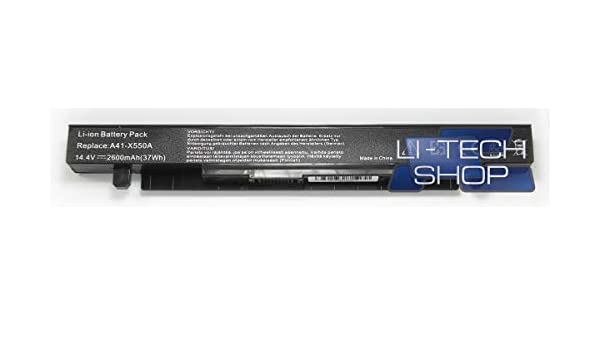 LI-TECH Batería Compatible 2600 mAh para código ASUS X55L89H Negro ...