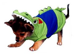 Crocodile / Alligator Deluxe Costume for Dogs by Puppe Love (Size 6 (16