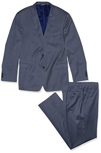 50l Suit - Tommy Hilfiger Men's Big and Tall Modern Fit Performance Suit with Stretch, Steel Gray, 50L