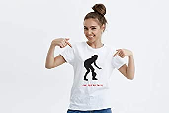 White Round Neck T-Shirt For Women