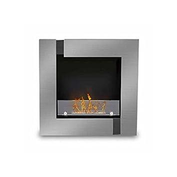 quadrinox - Vitre Pare fuego, chimenea etanol (Poele Bio, pared): Amazon.es: Hogar