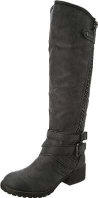 Madden Girl Women's Master Boot,Black Paris,6 M US