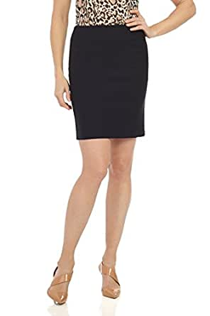 """Rekucci Women's Ease In To Comfort Stretchable Above The Knee Pencil Skirt 19"""" (X-Small,Black)"""