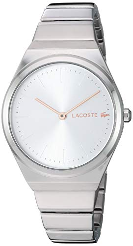 Lacoste Women's Mia Quartz Watch with Stainless-Steel Strap, Silver, 14 (Model: 2001054)