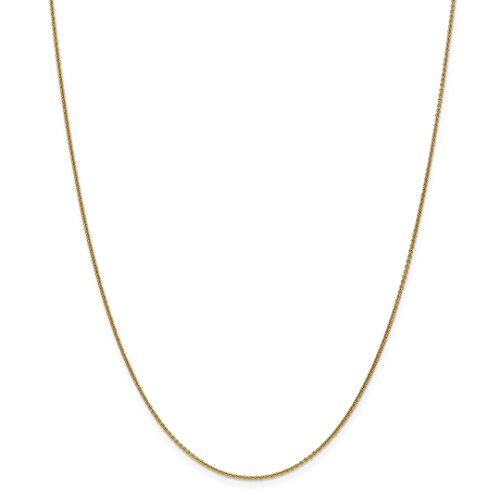 ow Gold 1mm Link Cable Chain Necklace 18 Inch Pendant Charm Fine Jewelry Ideal Gifts For Women Gift Set From Heart ()
