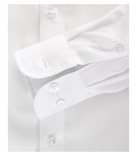 CASAMODA Herren Hemd 72er Ärmel 100% Baumwolle - Comfort Fit - extralang weiß 39/M