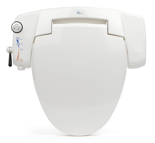 BB-I3000 BioBidet Premium Non-electric Bidet Seat for Elongated Toilets, White by BioBidet