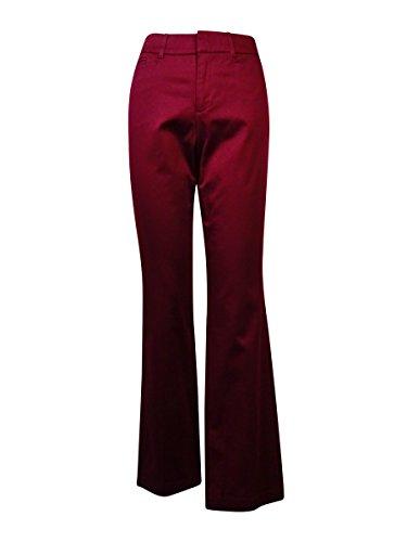 JM Collection Womens Plus Tummy Slimming Straight Leg Pants Purple 16W