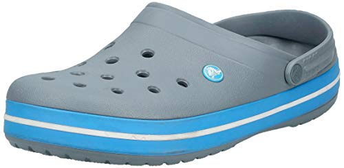 Crocs Unisex Crocband Clog, Charcoal/Ocean, 13 US Men / 15 US Women