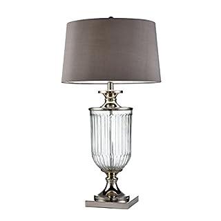 "OK Lighting OK-5711 32.50""H Amelie Glass Table Lamp"