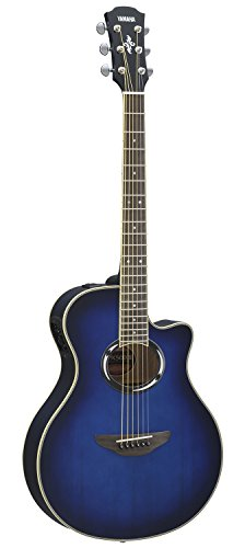 Yamaha APX500III Thinline Cutaway Acoustic-Electric Guitar, Oriental Blue (Blue Burst Acoustic Guitar)