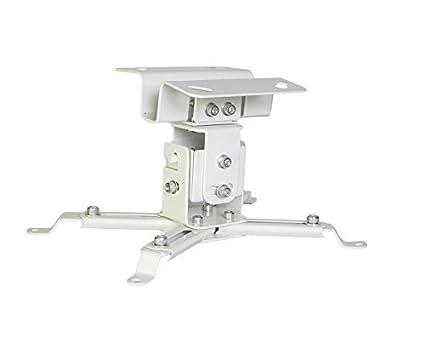 Bianco Luxburg/® supporto a soffitto universale in Alluminio per montaggio priettore 10-20cm tiene 15kg 30 gradi
