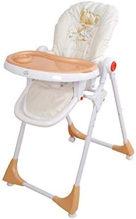 Trona para bebé regulable, doble bandeja, modelo osito beig, silla ...