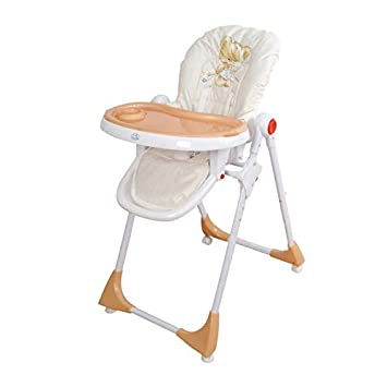 Trona para bebé regulable, doble bandeja, modelo osito beig, silla bebé. Trona para niños. De regalo manta de actividades: Amazon.es: Bebé