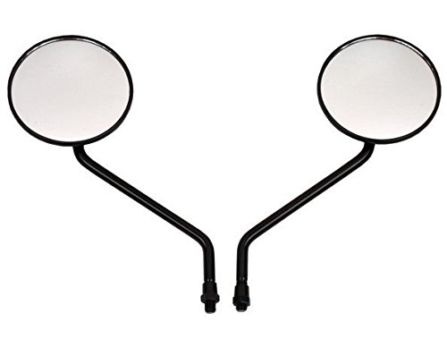 Aluminum Reflector Mirror Polished (2 X Motorcycle Motorbike Outside Rear View Left & Right Side View Mirrors Fit For HONDA CT110 CG125 XL250 XL400 XR230)