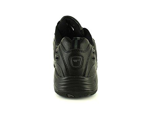 NUEVO Hombre / Negro Hombre Hi-Tec Blast Sintético Zapatillas Ligeras, - Negro - GB Tallas 7-12