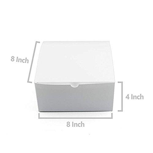 travaux manuels et cupcakes pour cadeaux Mydio Carton Blanc Tuck Top Cadeau Bo/îtes avec couvercles lot de 10 20,3/x 20,3/x 10,2/cm