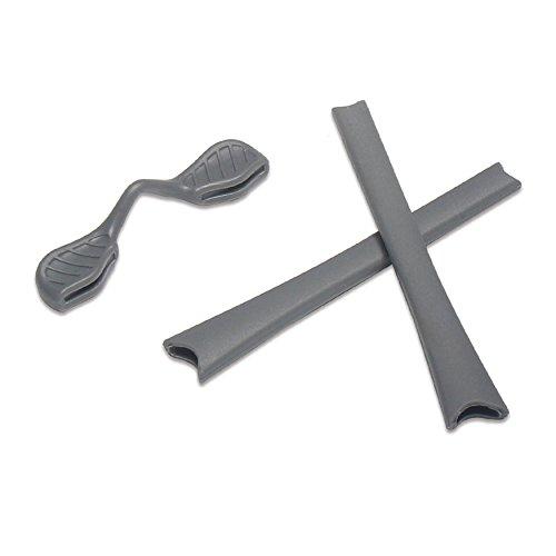 Gray Ear Socks and Nose Pads for Oakley Radar Path/Edge/Range/Pitch Sunglasses