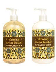 Greenwich Bay Trading Hand Soap & Hand and Body Lotion, 16 Ounce,2 pack Bundle Set (Almond Cocoa Butter)