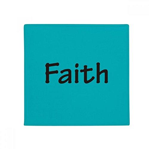 DIYthinker Faith Word Inspirational Quote Sayings Anti-slip Floor Pet Mat Square Bathroom Living Room Kitchen Door 60/50cm Gift by DIYthinker