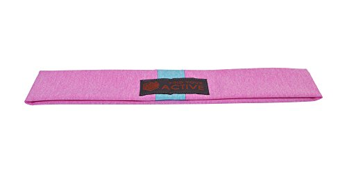 Red Dust Active Lightweight Sports Headband - Moisture Wicking Pink Sweatband - Ideal for Running, Cycling, Hot Yoga and Athletic Workouts - Designed for Women Borrowed by Men by Red Dust Active (Image #8)