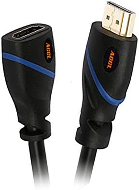 3D /& 4K Black ACCL 10 Feet Gold Plated All-in-One HDMI Cable - High Speed with Ethernet//Audio Return Male to Female Supports 1080P