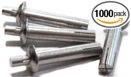1000 pcs 1//4 X 1-1//8 Drive Pin Rivets Universal Head Aluminum Body//Aluminum Pin