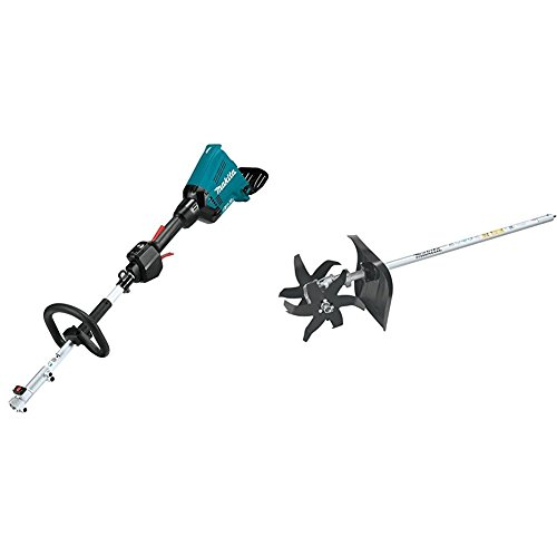 Makita XUX01Z 18V X2 (36V) LXT Lithium-Ion Brushless Cordless Couple Shaft Power Head, Tool Only with KR400MP Cultivator Couple Shaft Attachment by Makita
