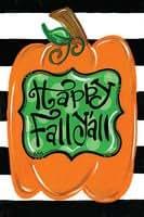 Magnolia Lane Happy Fall Y'all Harvest Pumpkin Garden Flag 17011