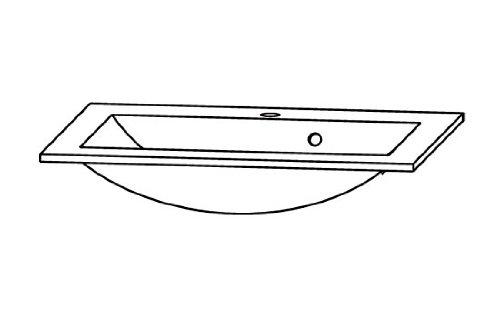 Puris Cool Line Glas-Waschtisch (WGE506081), Anthrazit, 60 cm