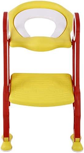 Aseo Escalera Asiento Escalera del tocador de niños Asiento para WC con escalón plegable Orinal Formación para niños con orinal y escalera ajustable: Amazon.es: Bebé