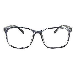 EyeBuyExpress Prescription Mens Womens Gloss Black White Tortoise Retro Reading Glasses Anti Glare Quality Fashion only No Rx
