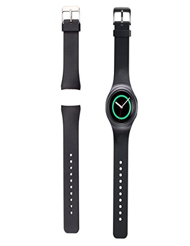 Silicone Watch Band Strap For Samsung Galaxy Gear S2 SM-R720(Black) - 5