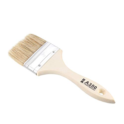 uxcell 3 Inch Chip Paint Brush Synthetic Bristle with Wood Handle for Wall Treatment