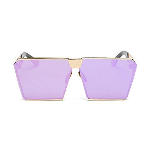 soleil mode luxe soleil cadre de hommes ton carrées de miroir GAOLIXIA lunettes voyage métal lunettes classique aviateur D femmes lunettes de BEPcqy0