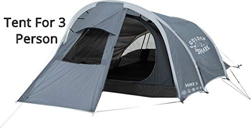 Golden Shark Hike 3 People Ultralight PopUp Tent Four Season for Three Person Waterproof Family Backpacking Instant Quick Setup Tents for Camping and Hiking